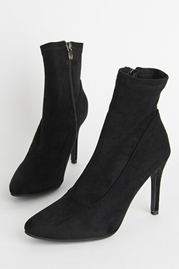 P8396 suede span socks ankle boots (9cm.225-250)