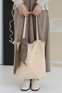 P8420 knit square shoulder bag