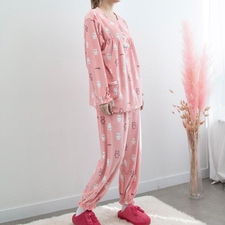 P8546 Ultra Microfiber Women's Pajamas Set (3color)