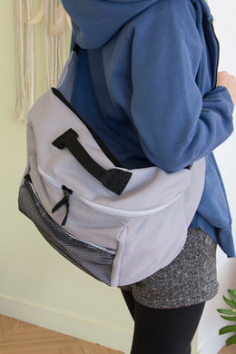 P8591 Mesh pocket big messenger bag (cross bag)